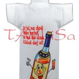 Tričko dárkové na láhev Ze mě do dna klidně dej si