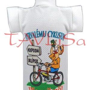 Tričko dárkové na láhev Vytrvalému cyklistovi