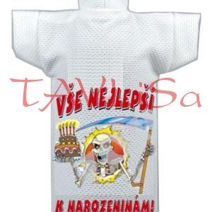 Tričko dárkové na láhev Zubatá přeje k narozeninám