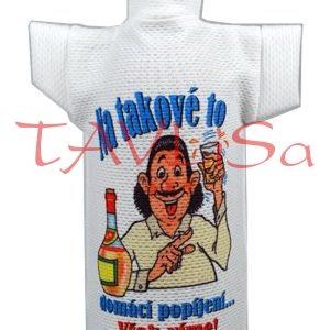 Tričko dárkové na láhev Na popíjení, Však víme!