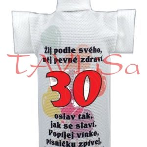 Tričko dárkové na láhev Výročí 30