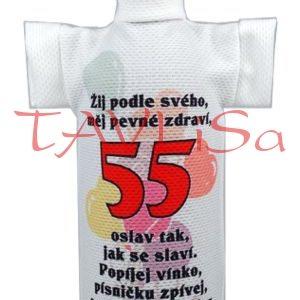 Tričko dárkové na láhev Výročí 55