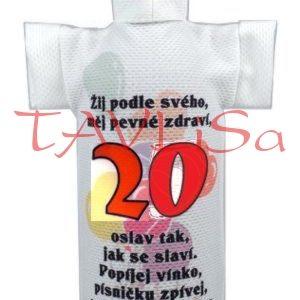 Tričko dárkové na láhev Výročí 20