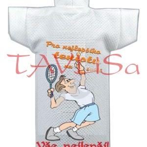 Tričko dárkové na láhev Pro nejlepšího tenistu