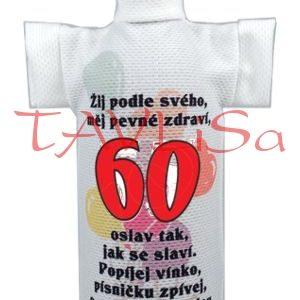 Tričko dárkové na láhev Výročí 60