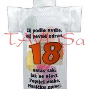 Tričko dárkové na láhev Výročí 18