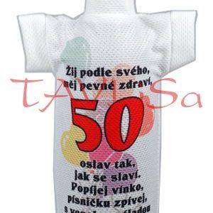 Tričko dárkové na láhev Výročí 50