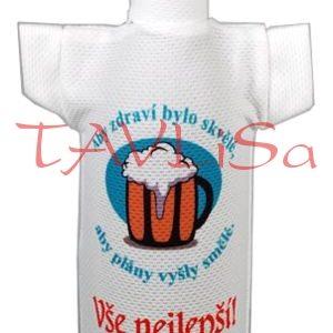 Tričko dárkové na láhev Aby zdraví bylo skvělé