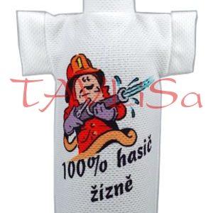 Tričko dárkové na láhev 100% hasič žízně