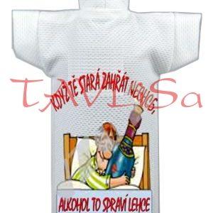 Tričko dárkové na láhev Když tě stará zahřát ne...